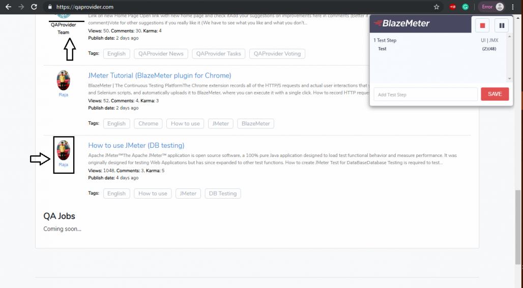 JMeter Tutorial (BlazeMeter plugin for Chrome) | QAProvider com